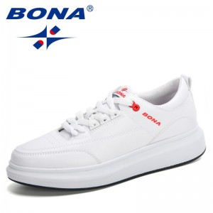BONA 2021 New Designers Casual Shoes Men Platform Leisure Sneakers Man Lace-up Breathable Walking Shoes Mansculino Comfortable