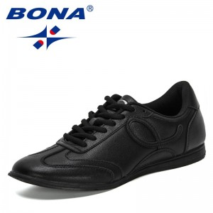 BONA 2021 New Designers Flat Sneakers Comfort Outdoor Breathable Casual Shoes Men Light Soft Leisure Footwear Mansculino Trendy