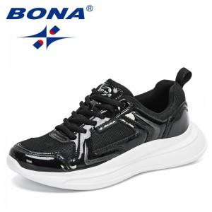 BONA 2021 New Designers Fashion Light Sneakers Men Comfortable Walking Casual Shoes Man Mesh Platform Leisure Footwear Feminimo