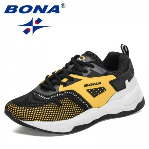 BONA 2021 New Designers  Sport Shoes Fashion Men Running Shoes Air Mesh Sneakers Man Non Slip Footwear Breathable Jogging Shoes