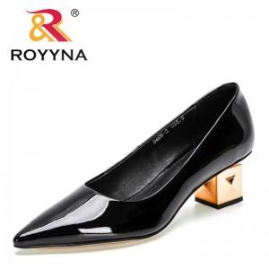 ROYYNA 2021 New Designers Luxury Heels Elegant Shoes Woman Wedding Shoes Ladies Bride Stiletto High Heels Office Shoes Feminimo