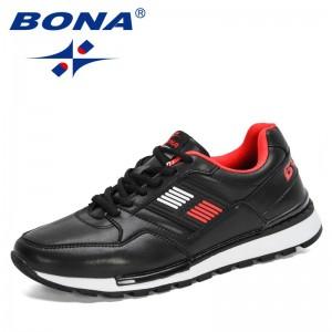 BONA 2021 New Designers Casual Shoes Lightweight Men Sneakers Luxury Brand Breathable Shoes Man Walking Footwear Mansculino Soft
