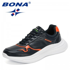 BONA 2021 New Designers Fashion Casual Shoes Men Brand Luxury Sneakers Shoes Man Platform Leisure Footwear Mansculino Trendy