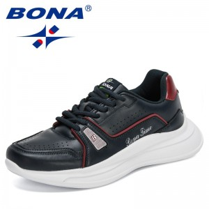 BONA 2021 New Designers Fashion Casual Shoes Men Platform Brand Luxury Sneakers Shoes Male Walking Footwear Mansculino Comfort
