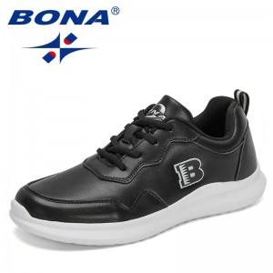 BONA 2021 New Designers Casual Shoes Fashion Sneakers Man Trend Flats Shoes Men Brand Flat Loafers Shoes Zapatillas Mansculino