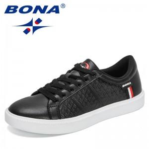 BONA 2021 New Designers Fashion Sneakers Men Casual Loafers Student Trend Outdoor Skateboard Shoes Mansculino Walking Footwear