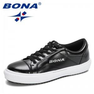 BONA 2021 New Designers Comfortable Outdoor Sneakers Male Breathable Footwear Man Zapatillas Walking Footwear Mansculino Trendy