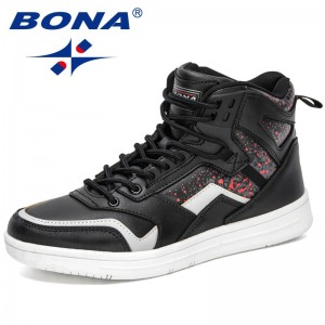 BONA 2021 New Designers High Top Sakteboarding Shoes Men Sneakers Street Sports Shoes Mansculino Walking Shoes Chaussure Homme