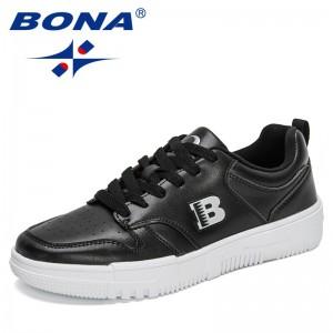 BONA 2021 New Designers Casual Shoes Fashion Sneakers Men Brand Outdoor Leisure Footwear Mansculino Trend Zapatillas Hombre Flat