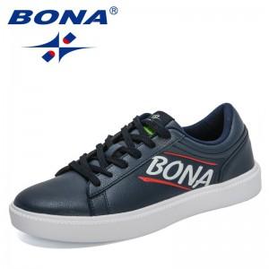BONA 2021 New Designers Popular Skateboarding Shoes Men Casual Sneakers Thick Sole Man Sports Shoe Mansculino Zapatillas Hombre