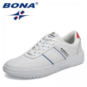 BONA 2021 New Designers Casual Sneakers Men Platform Trending Non-slip Luxury Brand Walking Footwear Man Comfy Zapatillas Hombre