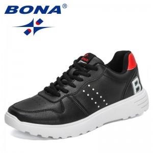 BONA 2021 New Designers Popular Breathable Casual Shoes Men Zapatos Lightweight Calzado De Hombre Comfortable Male Sneakers