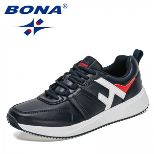 BONA 2021 New Designers  Lightweight Sneakers Men Fashion Casual Walking Shoes Man Breathable Mens Loafers Zapatillas Hombre