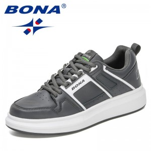 BONA 2021 New Designers Casual Sneakers Men Luxury Brand Light Man Trainers Mocassin Homme Platform Dad Shoes Leisure Shoes