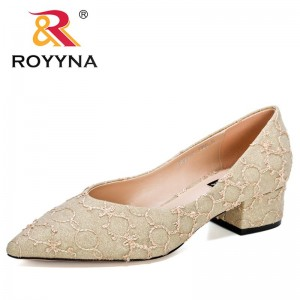 ROYYNA 2021 New Designers High Heels Shoes Women Fashion Pointed Toe Party Wedding Shoes Ladis Summer Shallow Pumps Feminimo