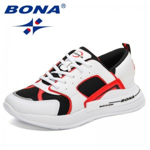 BONA 2021 New Designers Causal Shoes Mesh Breathable Men Trendy Sneakers Luxury Fashion Walking Man Leisure Shoes MaleShoes