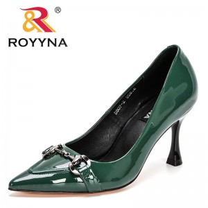 ROYYNA 2021 New Designers High Heel Shoes Women Wedding Shoes Ladies Pointed Toe Stiletto Sexy Pumps Feminimo Office Dress Shoes