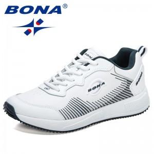BONA 2021 New Designers Casual Shoes Fashion Sneakers Men Leisure Footwear Walking Shoes Man Outdoor Rubber Men Shoe Zapatillas
