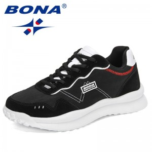 BONA 2021 New Designers Casual Shoes Comfortable Mesh Breathable Sneakers Men Fashion Outdoor Walking Footwear Man Leisure Shoes