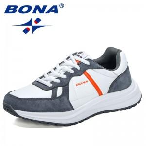BONA 2021 New Designers Fashion Outdoor Sneakers Men Suede Casual Shoes Man Leisure Walking Footwear Mansculino Zapatos Hombre
