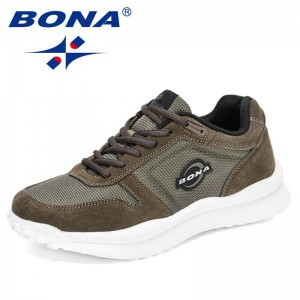BONA 2021 New Designers Fashion Men Casual Shoes Brand Sneakers Man Lightweight Lace-up Walking Footwear Mansculino Comfortable