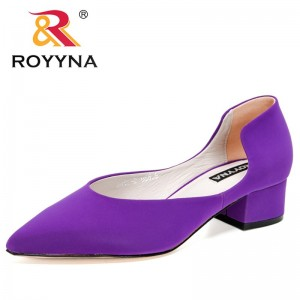 ROYYNA 2021 New Designers Fashion Pumps Shallow Women Fashion Office Work Wedding Party Shoes Ladies Square Heel Shoes Feminimo