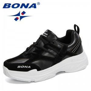 BONA 2021 New Designers Trendy Casual Breathable Shoes Women Spring Chunky Sneakers Comfort Shoes Ladies Soft Zapatillas Mujer