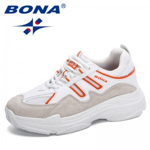 BONA 2021 New Designers Popular Casual Sneakers Women Spring Autumn Breathable Comfortable Platform Walking Footwear Feminimo