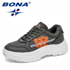 BONA 2021 New Designers Trendy Casual Shoes Women Platform Dad Shoes Ladies Popular Sneakers Feminimo Comfort Zapatillas Mujer