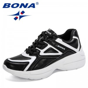 BONA 2021 New Designers Trendy Casual Shoes Women Light Sneakers Platform Ladies Shoes Comfortable Leisure Footwear Feminimo