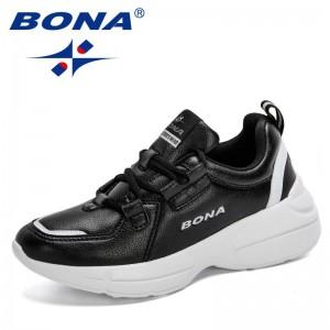 BONA 2021 New Designers Casual Shoes Women Popular Sneakers Light Weight Platform Ladies Shoes Leisure Footwear Feminimo Trendy