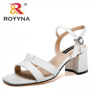 ROYYNA 2021 New Designers Popular High Bottom Female Clip Toe Shoes Outdoor Ladies Sandal Woman Working Shoes Office Shoes Girls