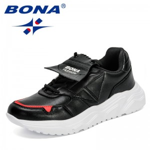 BONA 2021 New Designers Popular Sneakers Woman Lace Up High Heels Thick Bottom Flat Platform Loafers Casual Shoes Ladies Comfy