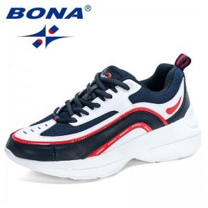 BONA 2021 New Designers Hight Increase Women Casual Shoes Sneakers Platform Wedges High Heels Flats Loafers Ladies Footwear Soft