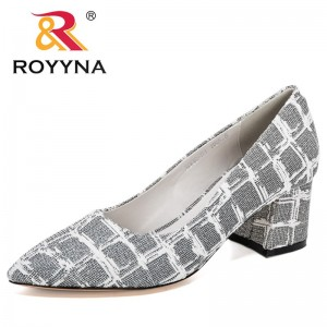 ROYYNA 2021 New Designers High Heels Shoes Women Fashion Pointed Toe Office Party Work Dress Pumps Ladies Wedding Shoes Woman