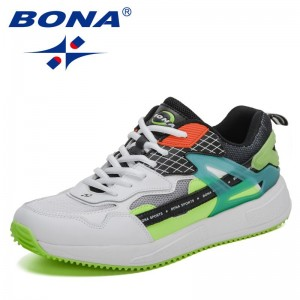 BONA 2021 New Designers Classics Walking Shoes Men Casual Sneakers Men High Quality Outdoor Light Breathable Sport Athletic Shoe
