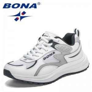 BONA 2021 New Designers Classics Non Slip Wear Outdoor Leisure Sneakers Women Casual Walking Shoes Feminimo Vulcanize Shoes