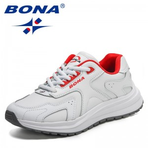 BONA 2021 New Designers Action Leather Running Shoes Women Outdoor Sports Shoes Sneakers Ladies Walking Jogging Shoes Feminimo