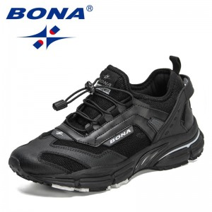 BONA 2021 New Designers Action Leather Jogging Shoes Man Sport Running Shoes Sneakers Men Tennis Outdoor Training Shoes Man Soft