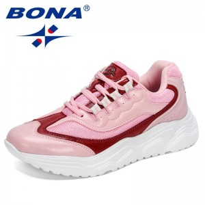 BONA 2021 New Designers Popular Mesh Breathable Anti-Slip Woman Sneakers Outdoor Casual Shoes Female Comfort Zapatos De Mujer