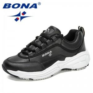 BONA 2021 New Designers Popular Platform Wedges Sport Shoes Women Casual Breathable Running Walking Trainers Ladies Jogging Shoe