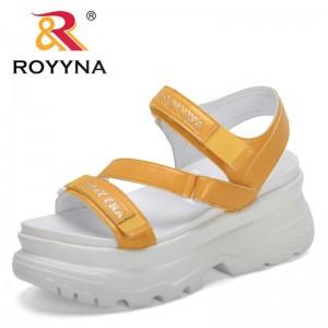 ROYYNA 2021 New Designers Platform Thick Heels Sandals Women Flat Sport Sandals Open Toe Shoes Feminimo Comfy Sandalias De Mujer