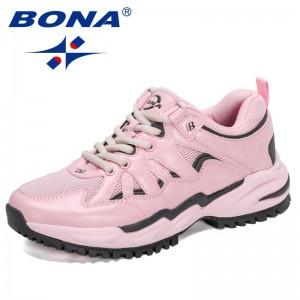 BONA 2021 New Designers Classics Sneakers Women Mesh Breathable Running Shoes Ladies Walking Shoes Jogging Footwear Feminimo