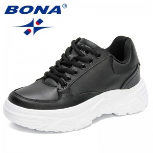 BONA 2021 New Designers Chunky Sneakers Women Walking Shoes Female Platform Thick Sole Casual Shoes Ladies Vulcanize Footwear
