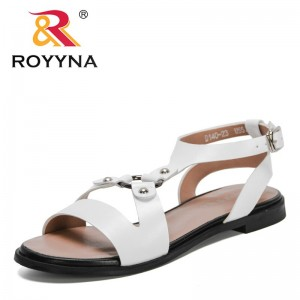 ROYYNA 2021 New Designers Summer Sandals Shoes Women Luxury High Quality Sandals Ladies Ankle Lower Heel Party Open Toe Sandals