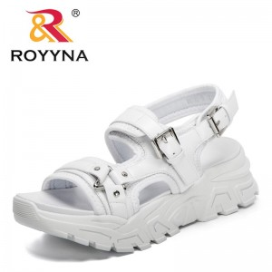 ROYYNA 2021 New Designers Thick-Soled Slopes Summer Sandals Women Platform Casual Roman Sports Sandals Ladies High Quality Shoes