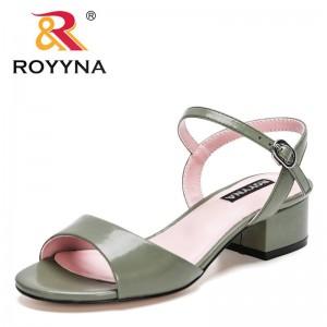 ROYYNA 2021 New Designers Popular Sandals Women Flip Flops Rome Slip-On Non-Slip Shoes Woman Slides Solid Casual Sandals Female