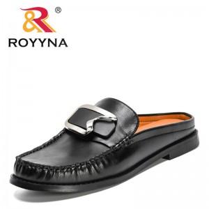 ROYYNA 2021 New Designers Luxury Brand Women Slippers Metal Decration Sandals Ladies Microfiber Summer Shoes Feminimo Footwear