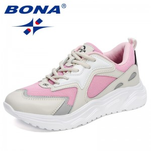 BONA 2021 New Designers Casual Shoes Height Increasing Wedge Shoes Women Trendy Sneakers Ladies Walking Shoes Zapatos De Mujer
