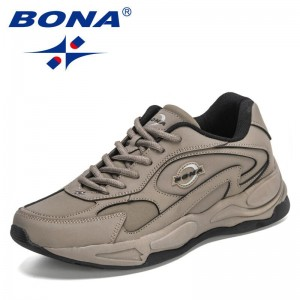 BONA 2021 New Designers Action Leather Outdoor Cross Training Running Shoes Men Trendy Sneakers Mansculino Zapatillas Hombre